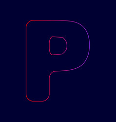 letter p sign design template element vector image vector image