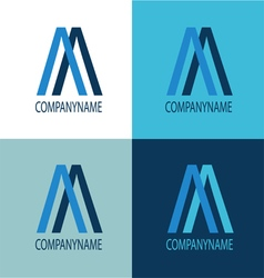 Logo blue color mix vector image