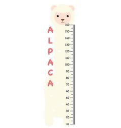 meter wall with alpaca vector image vector image