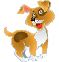 Orange fun dog vector image