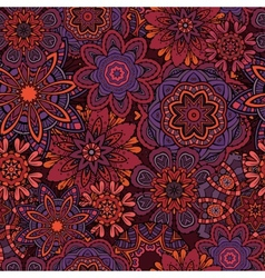 Ornamental fantasy floral seamless pattern vector