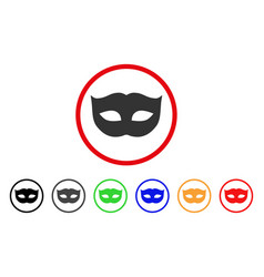 privacy mask rounded icon vector image vector image