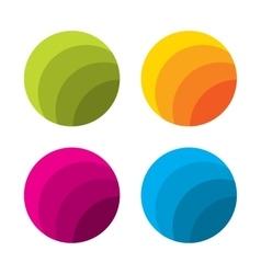 Set of abstract circle logo template vector image vector image