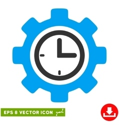 Time setup gear eps icon vector
