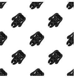 Toy rabbit icon in black style isolated on white vector