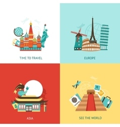 Travel Design Concept vector image vector image