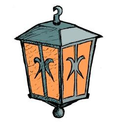 vintage lantern vector image vector image
