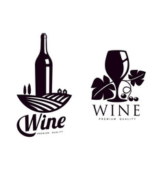 winery silhouette conceptual icon set isolated vector image vector image