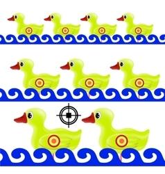 Yellow duck target vector
