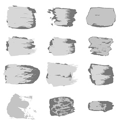 Gray brush stroke paint abstract white background vector