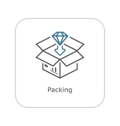 Packing icon flat design vector