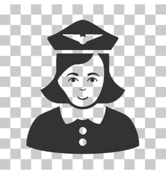 Airline stewardess icon vector