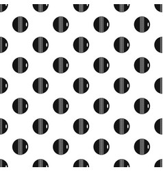 Black and white cricket ball pattern vector