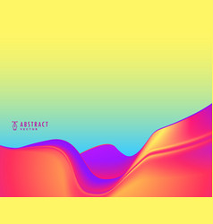 Stylish abstract wavy background in vibrant colors vector