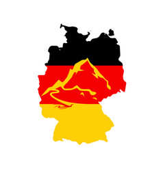 Flag of germany with caption - german alps vector