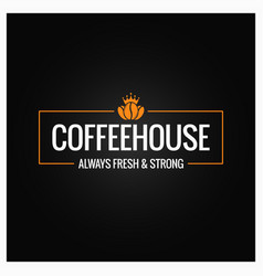 Coffee beans logo design background vector