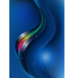 Glossy curves covering rainbow curve vector