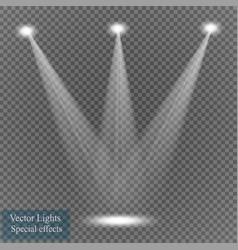 Spotlight on transparent background vector