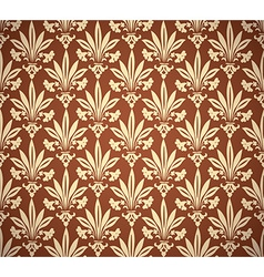 Stylish vintage floral seamless pattern background vector image