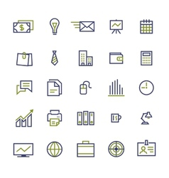 Set of business icons for internet marketing and vector