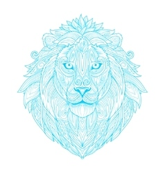 Lion ornament ethnic vector