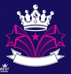 Imperial stylized symbol monarch element 3d crown vector