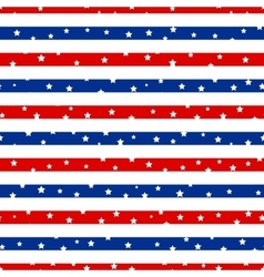 Seamless striped pattern with stars vector