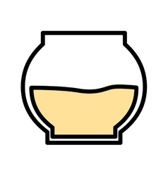 Honey pot isolated icon design vector
