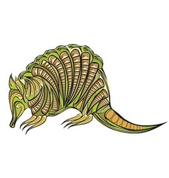 Armadillo ethnic design vector