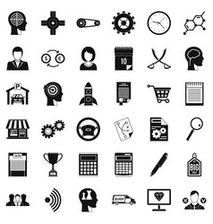 Business choice icons set simple style vector