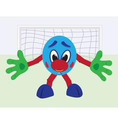 cartoon football goalkeeper vector image
