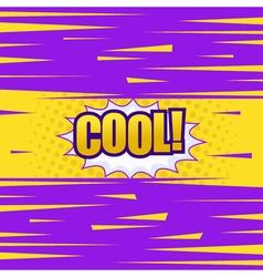 Cool comic cartoon wording vector image vector image