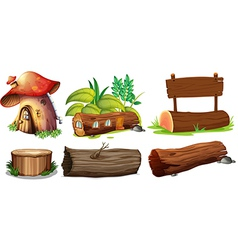 Different uses of woods vector image vector image