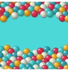 Gumball candies holiday background vector