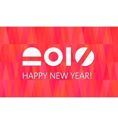 Happy new year banner fire background vector