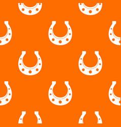 horseshoe pattern seamless vector image