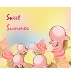 Ice Cream Background vector image vector image