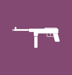 Icon military machine gun vector