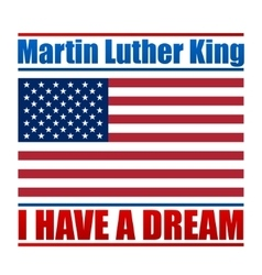 Martin luther king day national holiday vector
