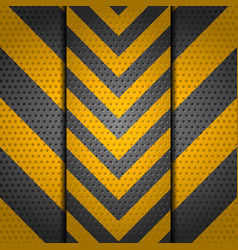 Metallic perforated danger sign background vector