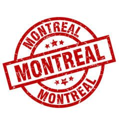 Montreal red round grunge stamp vector