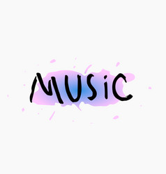 Music shirt print quote lettering vector