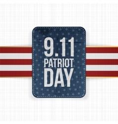 Patriot day festive paper label vector