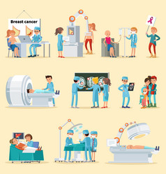 People and cancer disease collection vector