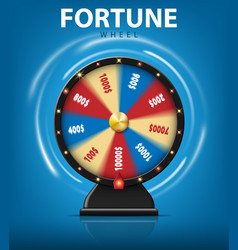 realistic 3d spinning fortune wheel isolated on vector image vector image