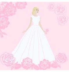 The bride in a wedding dress vector image