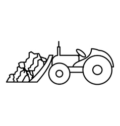 Tractor icon outline style vector