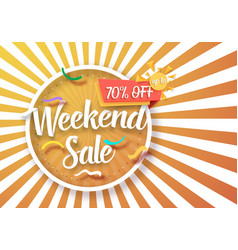 Weekend sale poster vector