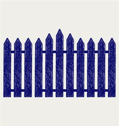 Wooden fence vector