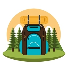 Camping bag isolated icon design vector